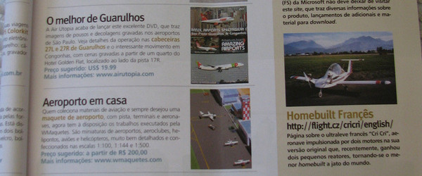 Brcenarios na revista Aeromagazine
