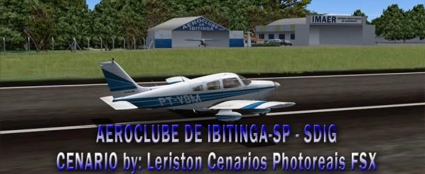 Cenário da cidade e do aeroclube de Ibitinga-SP (SDIG) – FSX